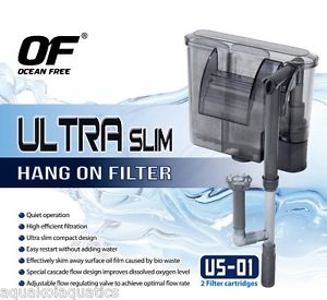 Ocean Free ultra slim hang on filter wit Aquaculture Forum